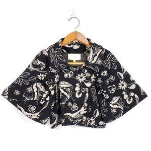 Leifsdottir Black Gray Intarsia Wool Sweater